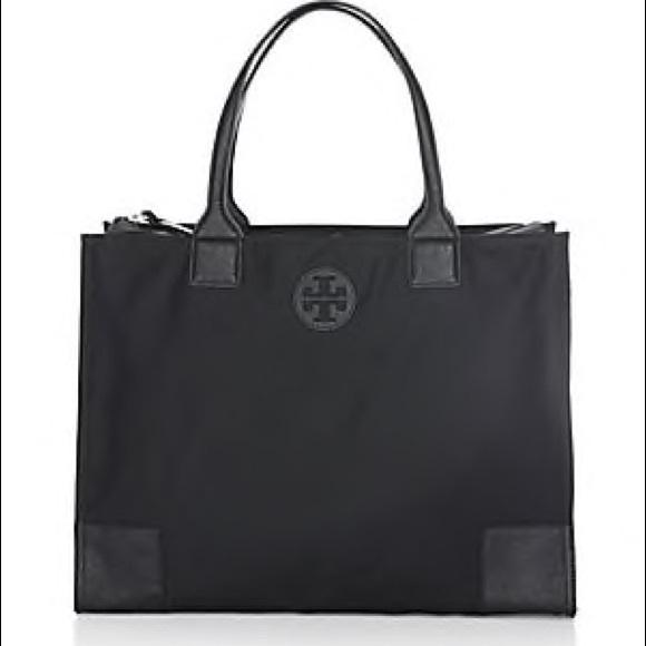 Tory Burch Handbags - TORY BURCH ELLA NYLON & SAFFIANO LEATHER TOTE